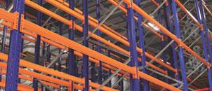Rafturi metalice pentru marfa paletizata Sistem conventional
