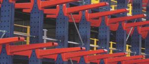 Rafturi metalice tip Cantilever pentru profile